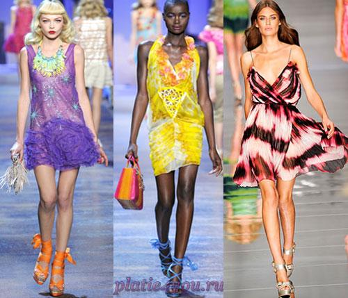 Яркие платья из шифона просто идеально подходят для лета.