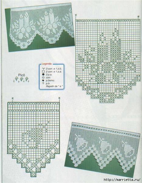 Винтажное вязание крючком. Много винтажных идей со схемами Bicos_croche_natal (467x600, 160Kb)