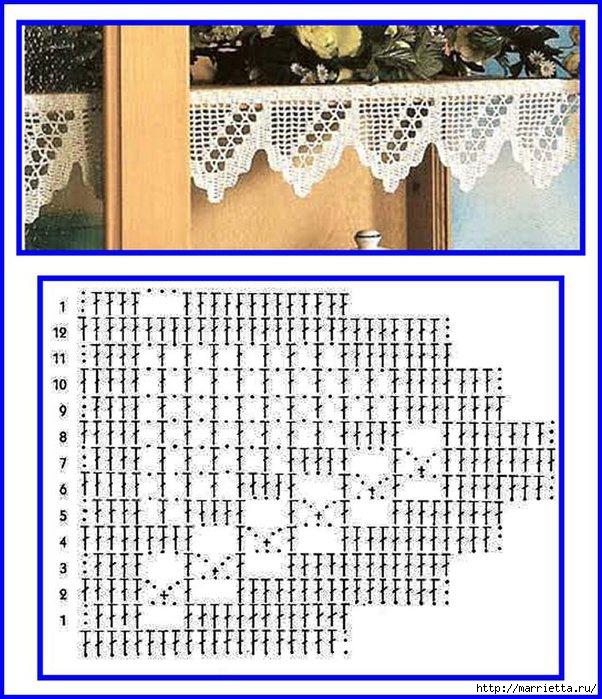 Винтажное вязание крючком. Много винтажных идей со схемами Image157 (602x700, 284Kb)