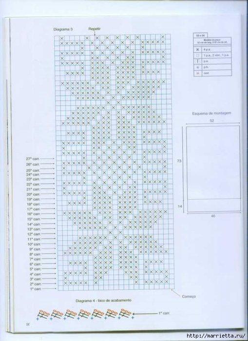 Винтажное вязание крючком. Много винтажных идей со схемами pagina12 (509x700, 175Kb)