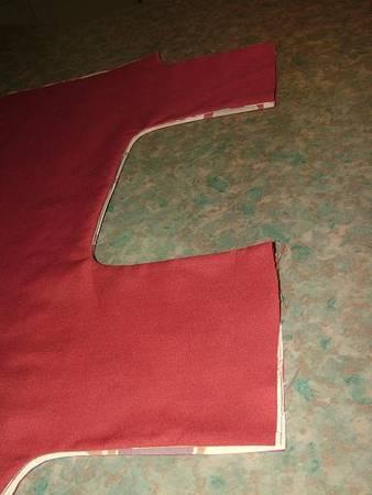 Пришиваем накладной карман с одной стороны сумки (фото 12-14)