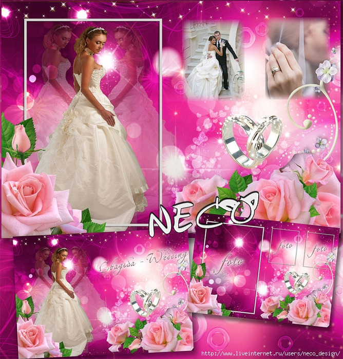 1337777334_wedding_frame_author_Neco (668x700, 417Kb)