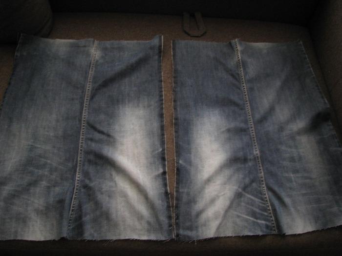 Хозяйственная сумка из джинсов.  МК.