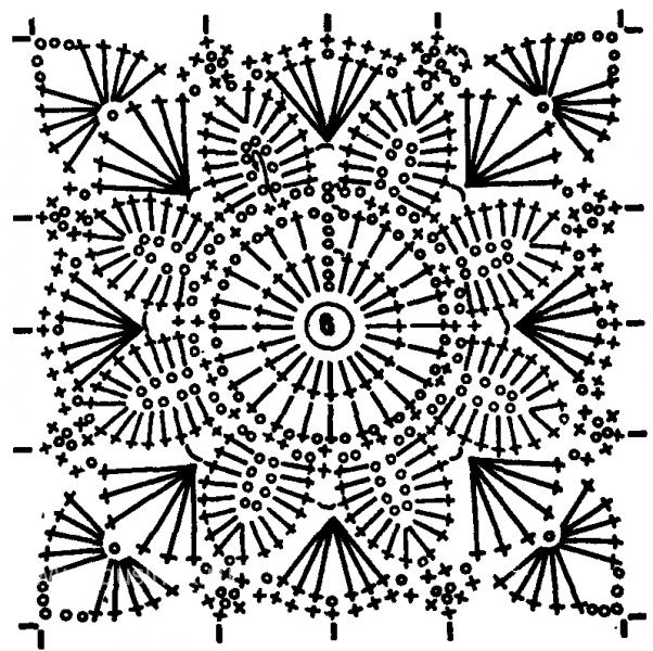 ажурный квадрат вязание спицами фото.