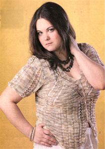 Вязание ... моделей для полных женщин.  Модели связаны спицами, с.