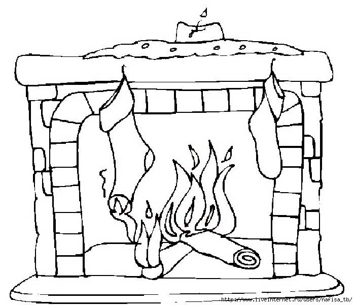 кратких рисунок огня в камине трафарет выбор