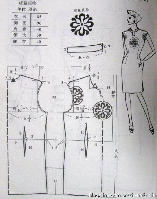 ecb0ac234efeebd Крой и шитьё : Платья в китайском стиле | Записи в рубрике Крой и ...