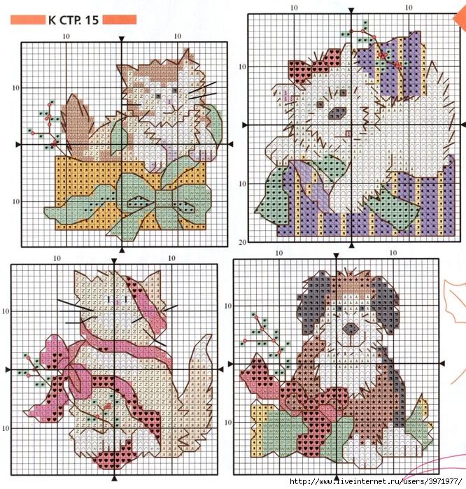 Схемы вышивки крестиком для открыток