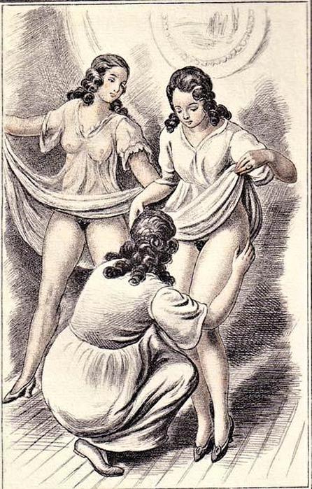 русская ретро эротика рисунок - 13
