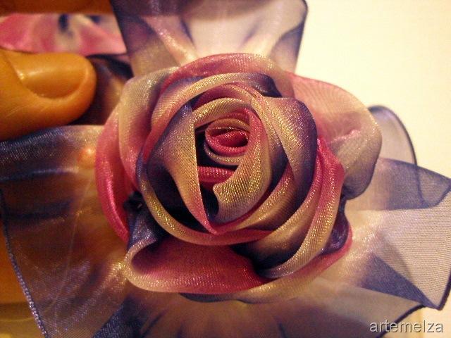 Как Как сделать розу из ткани своими
