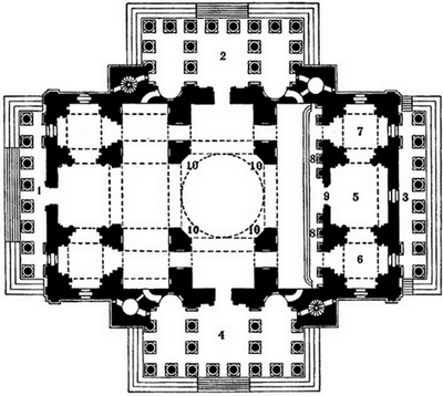 Plan_of_St._Isaac\'s_cathedral (400x358, 64Kb)
