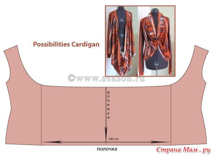 Кардиган трансформер выкройка