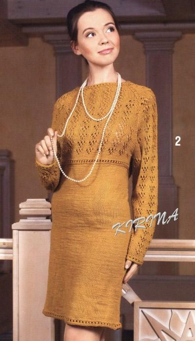 Как связать платье регланом на спицах