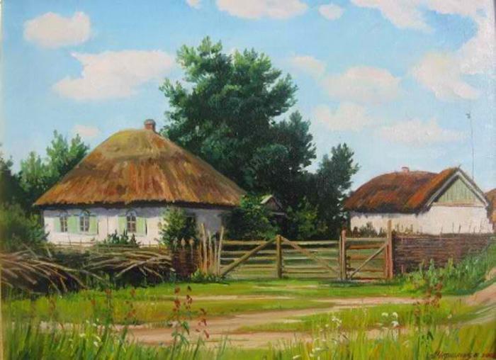 украинская хата картинки рисунки