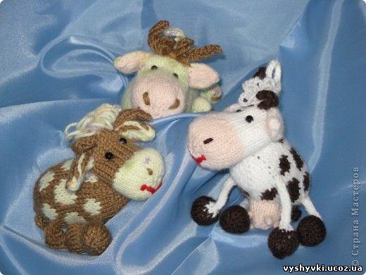 Вязаные игрушки коровы быки | Стильная молодежная одежда ... - photo#50