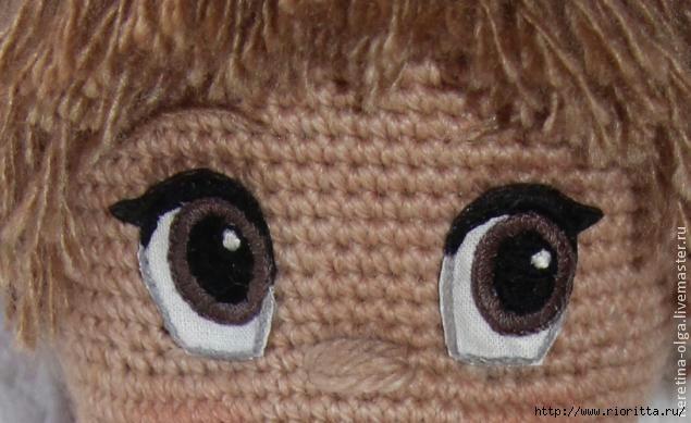 вышиваем глазки для вязаных игрушек автор мастер класса ольга