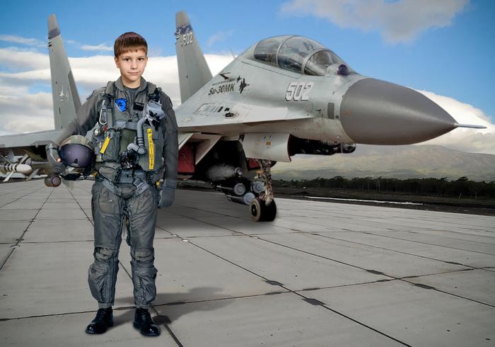 шаблон российский пилот фото