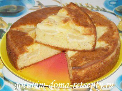 Пирог на сметане с яблоками рецепт