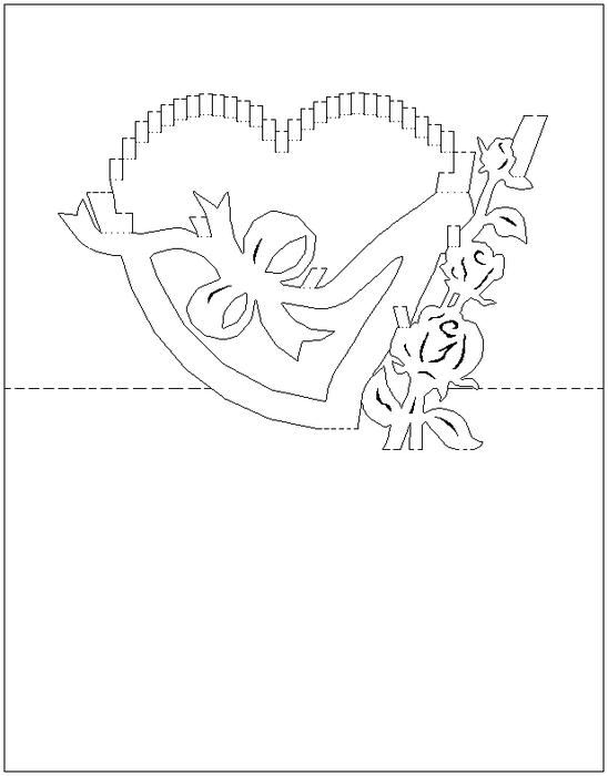 Киригами открытка с днем матери