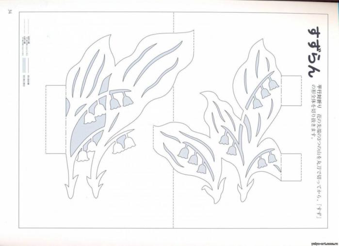 Объемные открытки бумаги схемы, прыгает картинка