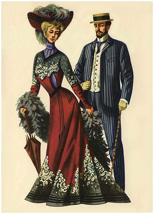 этом мужская мода в картинках история время