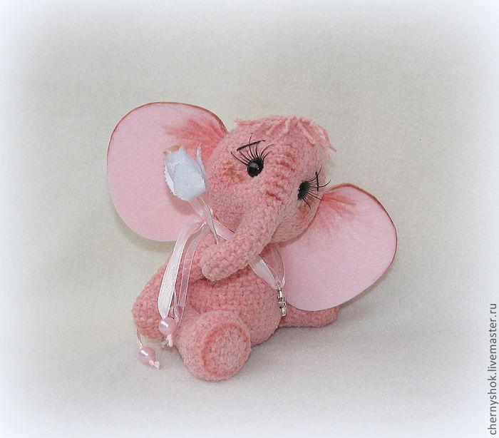слоник сердечко крючком