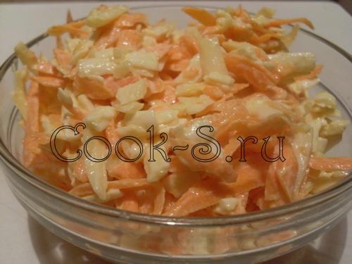 Салат морковь сыр чеснок колбаса