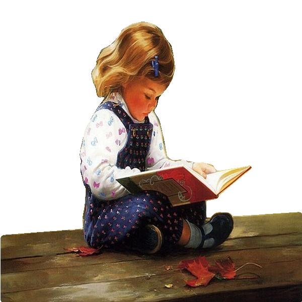 Картинка ребенок читает анимашки