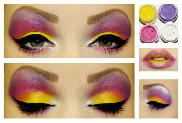 Яркий макияж мастер класс с фото #7