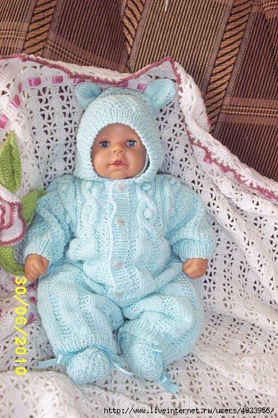 Схема вязания костюма на новорожденного 648