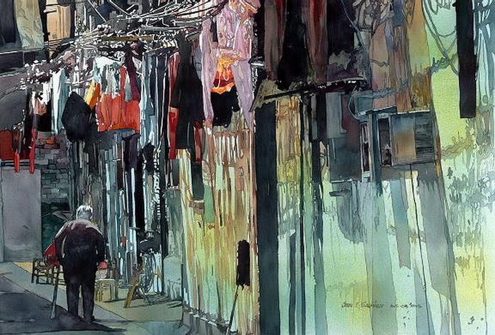Shanghai Alley 24x35.5 (700x474, 160Kb)