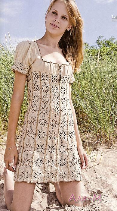 Оригинальные платья крючком