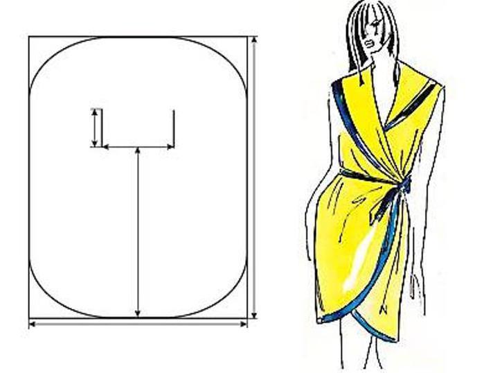 Как сшить самой платье на запах фото 560