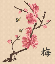 Схемы вышивок ветка сакуры