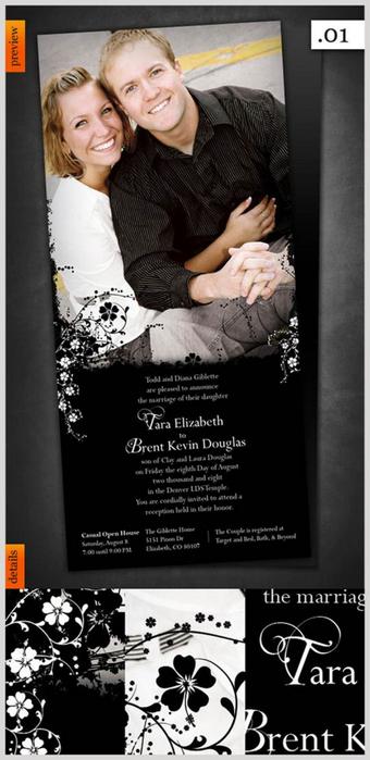 Дизайнерские пригласительные открытки на свадьбу 22 (340x700, 191Kb)