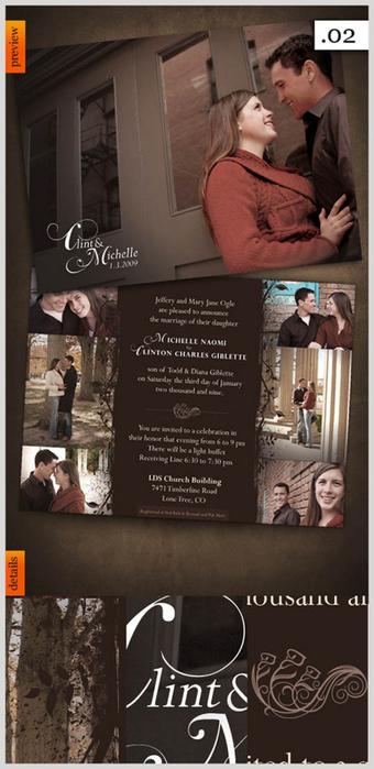 Дизайнерские пригласительные открытки на свадьбу 23 (340x700, 240Kb)