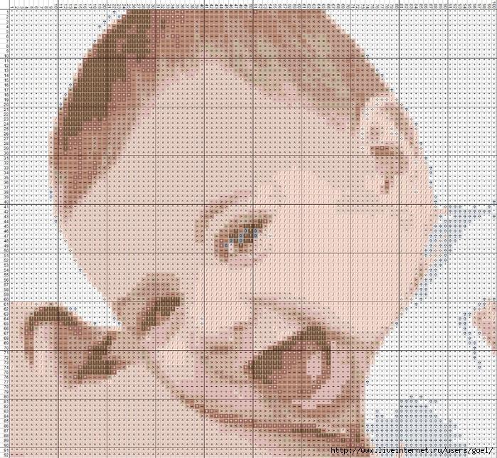Схема вышивки крестом детки 405