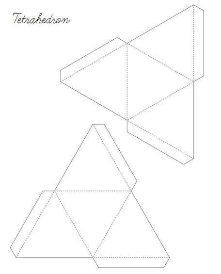 Геометрические фигуры из бумаги. Схемы оригами   декоративно.