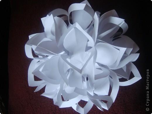 Шар снежинка из бумаги своими руками
