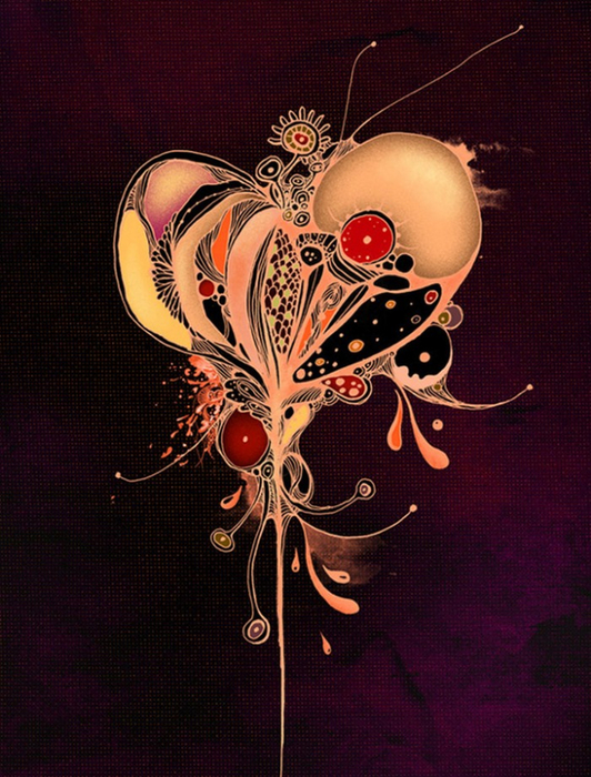 Красочные фэшн иллюстрации Linn Olofsdotter 16 (532x700, 497Kb)