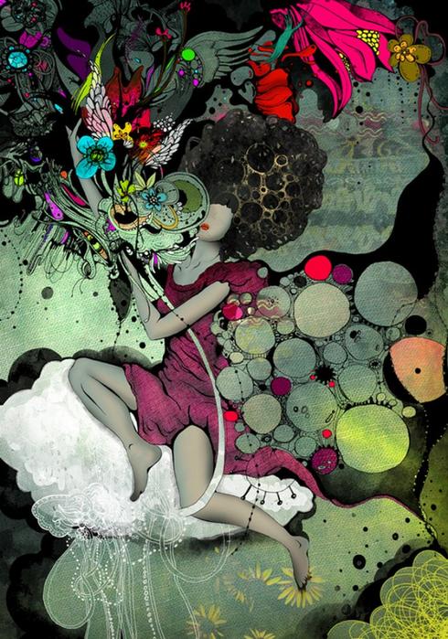 Красочные фэшн иллюстрации Linn Olofsdotter 20 (490x700, 492Kb)