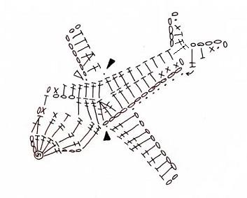 Вязаные аппликации крючком для мальчиков схемы самолет
