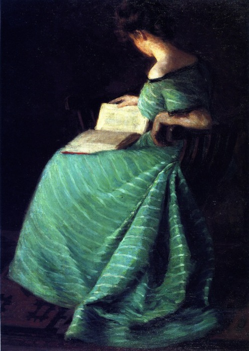 Girl in Green, by Sara Hayden (497x700, 102Kb)