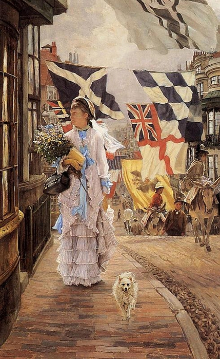 A Fete Day at Brighton, by James Jacques Joseph Tissot (429x700, 298Kb)