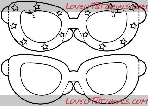 трафареты для 3D ручки распечатать очки 2 | 441x616