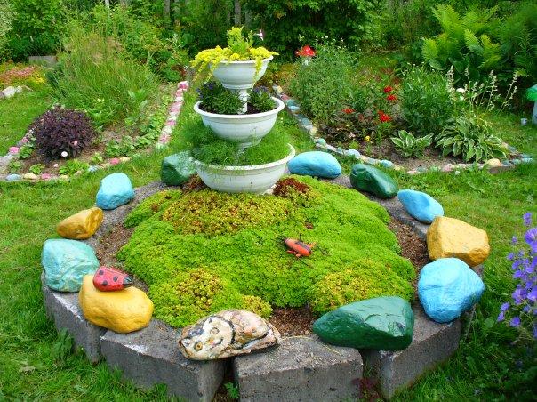 Украшение сада или дачи своими руками из 65