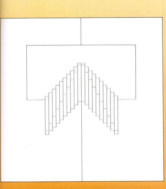 Черно белые, объемная открытка ступеньки