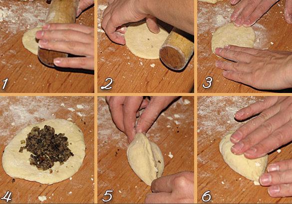 Как сделать пирожок форма