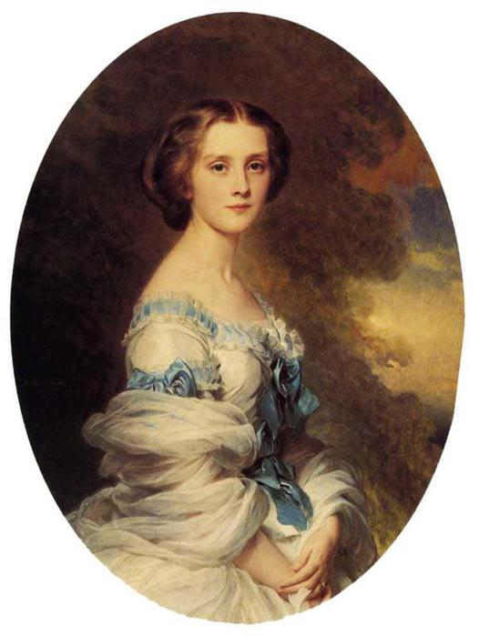 Мелани де Bussiere, графиня Эдмонд де Пурталес, 1857 (526x700, 42Kb)
