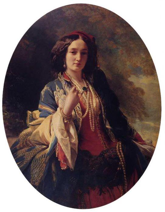 Портрет Katarzyna Потоцкая, 1854 (543x700, 46Kb)